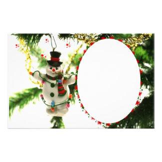 "Frame for photo ""Doll of Christmas "" Custom Stationery"