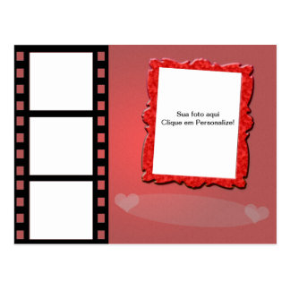 "Frame for photo ""Romance of cinema "" Postcard"