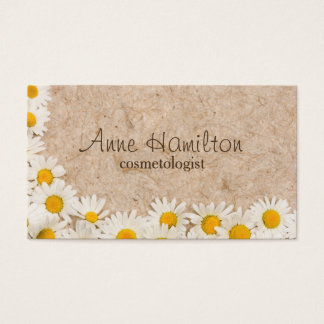 Frame of daisies business card