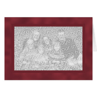 Frame Template Card - Dark Red