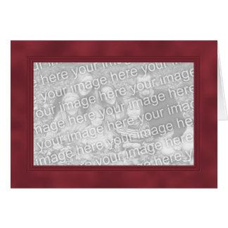 Frame Template Card - Dark Red