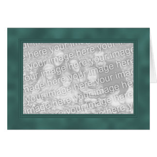 Frame Template Card - Teal Green