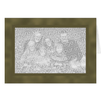 Frame Template Card - Yellow Brown