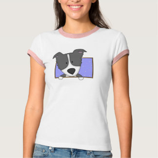 Framed Cartoon Border Collie Tee Shirt