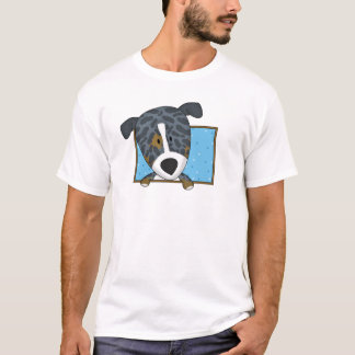 Framed Cartoon Catahoula Leopard Dog T Shirt
