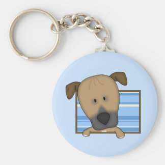 Framed Cartoon Rhodesian Ridgeback Keychain