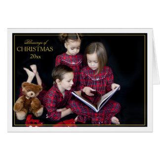 Framed Christmas Blessings Folded Card
