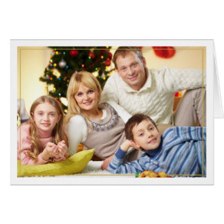 Framed Christmas Blessings Horizontal Photo Card