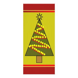 Framed Christmas tree illustration Custom Rack Card