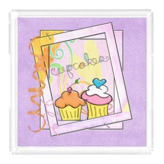 Framed Cupcakes Acrylic Tray