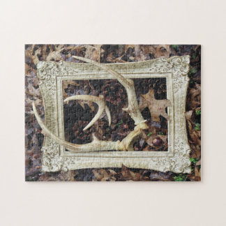 Framed Deer Antlers Photographic Art Puzzles