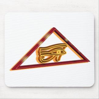Framed Eye of Horus Mouse Pad