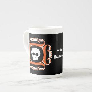Framed fancy Halloween skull Tea Cup
