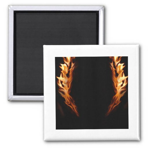 Framed Flames Fridge Magnet