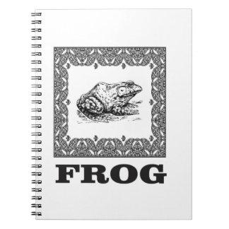 framed frog artwork notebook