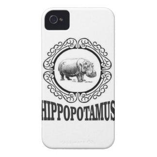 Framed Hippo Case-Mate iPhone 4 Case