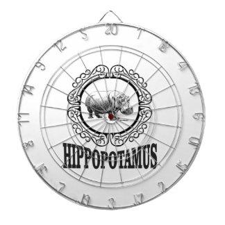 Framed Hippo Dartboard