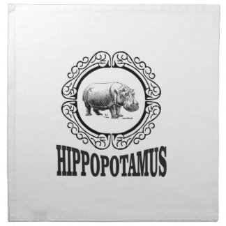 Framed Hippo Napkin