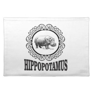 Framed Hippo Placemat