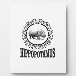Framed Hippo Plaque