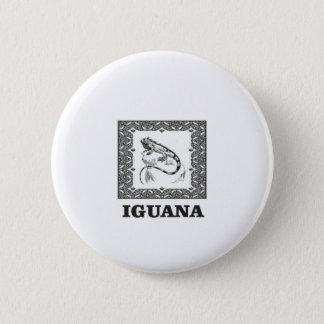 framed iguana yeah 6 cm round badge