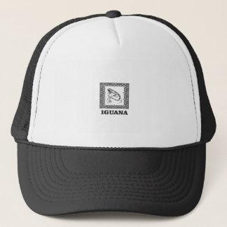framed iguana yeah trucker hat