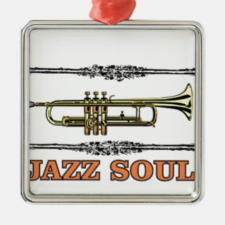 framed jazz soul Silver-Colored square decoration