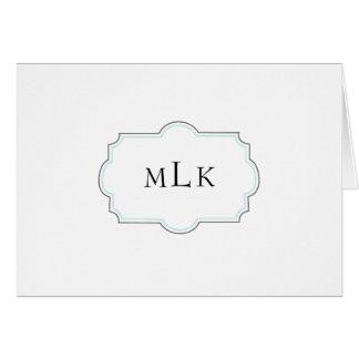 Framed Monogram Blank Note Card