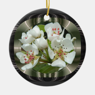 Framed Pear flowers ~ ornament