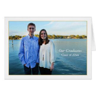 Framed Photo Folded Invitation