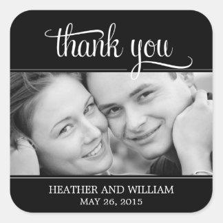 Framed Photo Wedding Favor Stickers