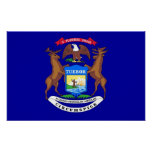 Framed print with Flag of Michigan, U.S.A.