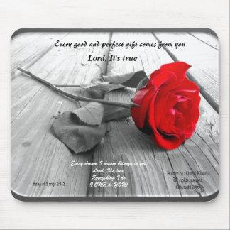 Framed Rose Mousepad