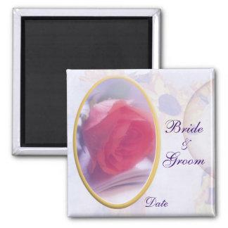 Framed Rose Wedding Favor Magnet