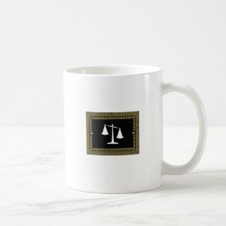framed scales of justice coffee mug
