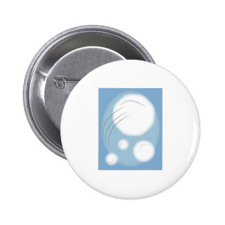 Framed Snowballs 6 Cm Round Badge