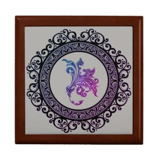 framed tattoo lily design gift box