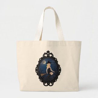 Framed Witch Large Tote Bag