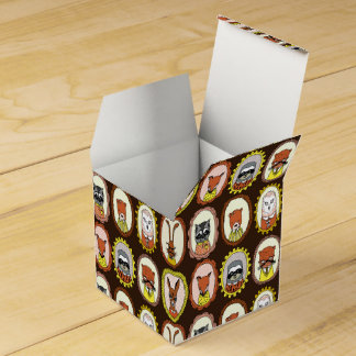 Framed Woodland Animals Fox Sloth / Andrea Lauren Party Favour Box