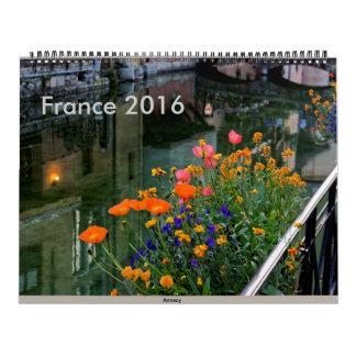 France 2016 calendars
