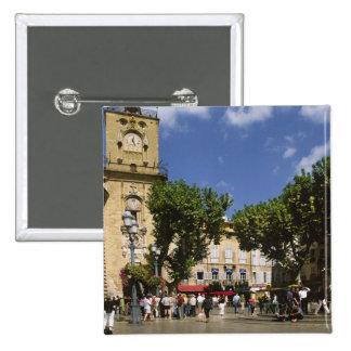 France, Aix en Provence, La Place de la Maire 15 Cm Square Badge