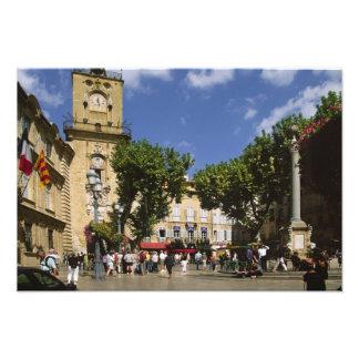 France, Aix en Provence, La Place de la Maire Art Photo