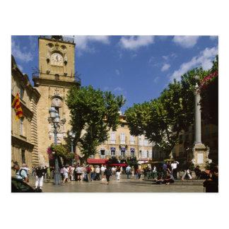 France, Aix en Provence, La Place de la Maire Postcard