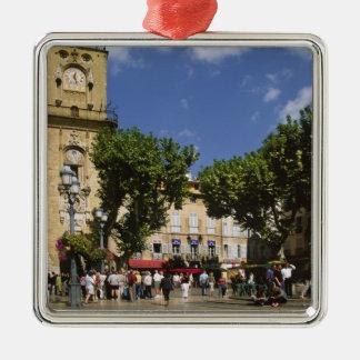 France, Aix en Provence, La Place de la Maire Silver-Colored Square Decoration