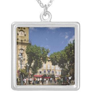 France, Aix en Provence, La Place de la Maire Square Pendant Necklace