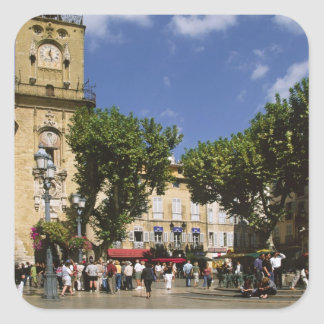 France, Aix en Provence, La Place de la Maire Square Sticker