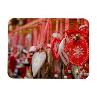 France, Alsace, Colmar. Christmas Market Rectangular Photo Magnet