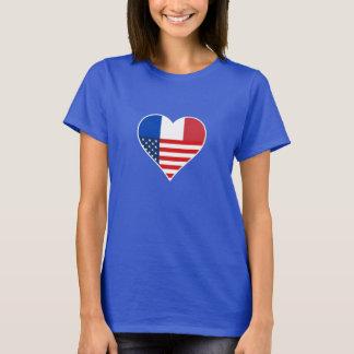 France, America, the USA. Heart, Friendship, Love. T-Shirt