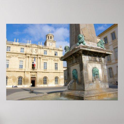 France, Arles, Provence, Place de la Print