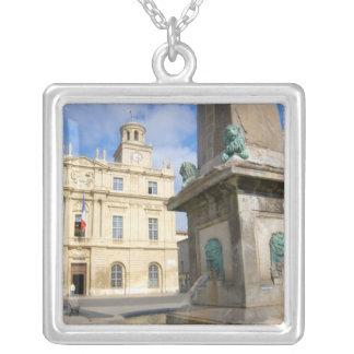 France, Arles, Provence, Place de la Square Pendant Necklace
